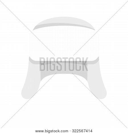 Ear Flap Winter Hat Icon. Flat Illustration Of Ear Flap Winter Hat Vector Icon For Web Design
