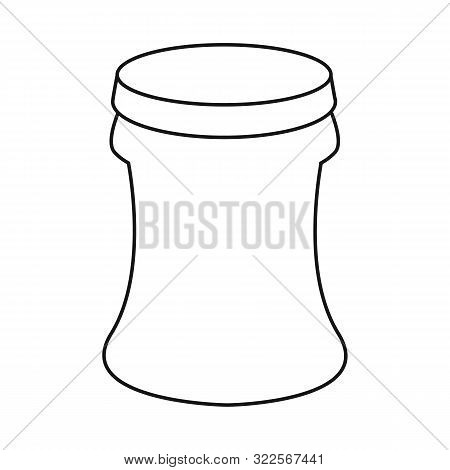 Vector Design Of Container And Soda Symbol. Set Of Container And Nonalcoholic Stock Vector Illustrat