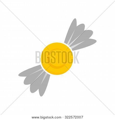 Lemon Bonbon Icon. Flat Illustration Of Lemon Bonbon Vector Icon For Web Design
