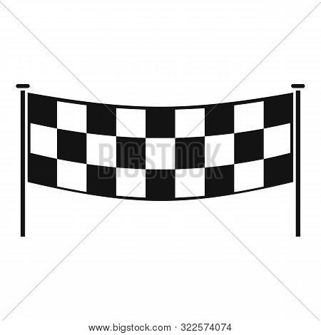 Finish Race Banner Icon. Simple Illustration Of Finish Race Banner Vector Icon For Web Design Isolat