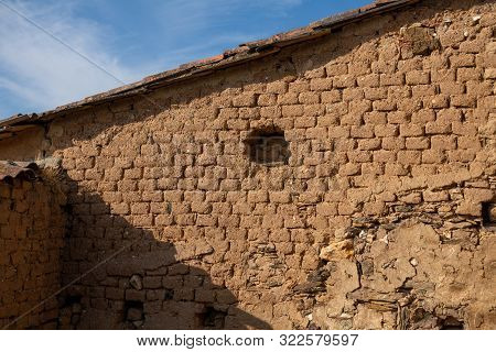 Entire Adobe Bricks Wall In The House