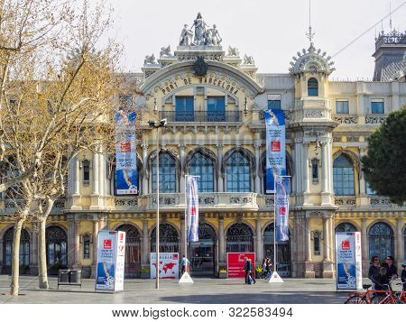 The Old Customs Building Of Port Vell - Barcelona, Catalonia, Spain, 29 March 2015