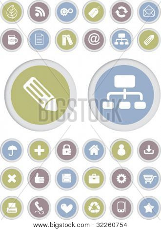 office glamour buttons. vector