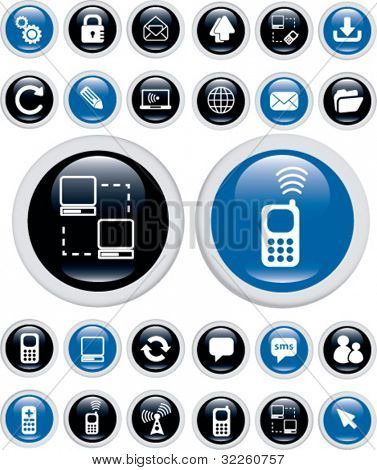 communication buttons. vector