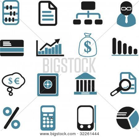 finance & investment signs, vector