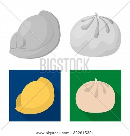 Isolated Object Of Products And Cooking Sign. Collection Of Products And Appetizer Stock Symbol For