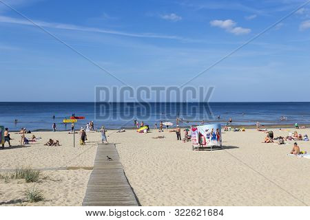 Jurmala, Latvia - September 1, 2019: Beach On Baltic Sea In Bulduri Resort (jurmala)