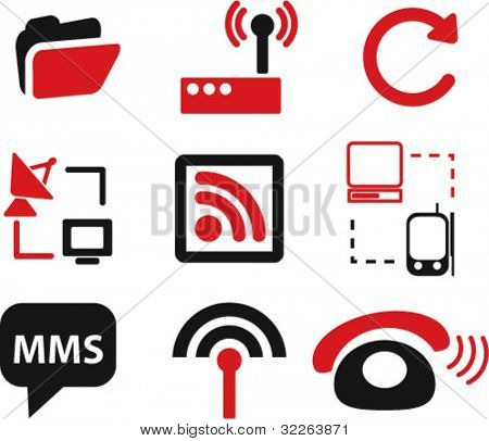 network icons, illustrations, vector