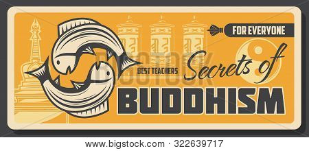 Buddhism Religious School, Learning And Teaching Center Vector Buddhist Spiritual Tranquility And Dh