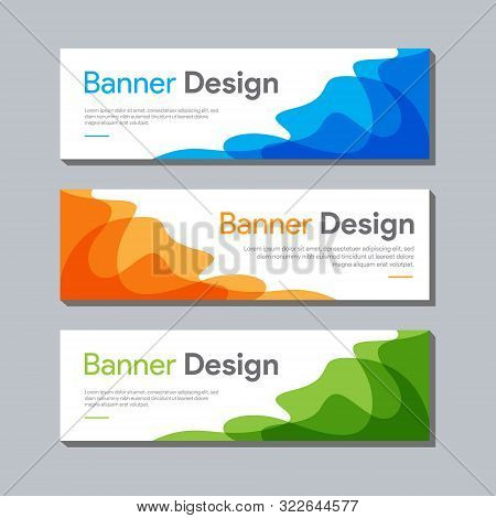 banner. set of banner , ad banner design , website banner design , banner design with space for photo or image , clean and modern ads banner design, web banner tempate , popular banner vector