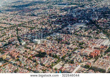 Aerial View Of Ciudad De Mexico Mexico City