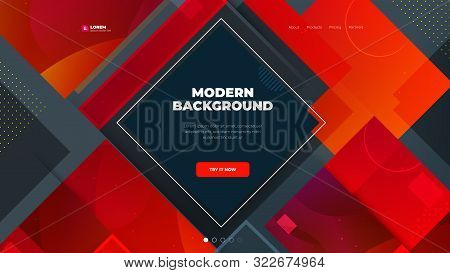 Modern Red Background, Great Design For Any Purposes. Abstract Vector Illustration. Business Concept