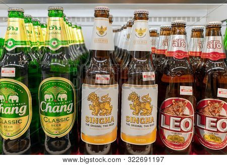 Bangkok, Thailand - September 15: Major Brand Thai Beer, Chang, Singha And Leo Retails In Foodland S