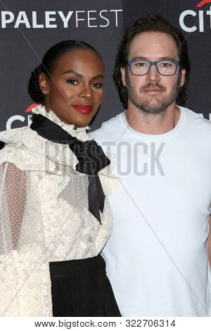 LOS ANGELES - SEP 14:  Tika Sumpter, Mark-Paul Gosselaar at the PaleyFest Fall TV Previews - ABC at the Paley Center for Media on September 14, 2019 in Beverly Hills, CA