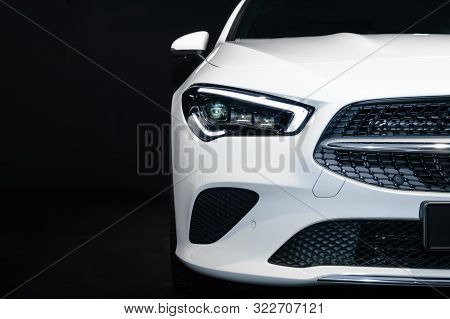 Frankfurt - Sep 15, 2019: White Mercedes-benz Cla 200 Shooting Brake At Iaa 2019 International Motor