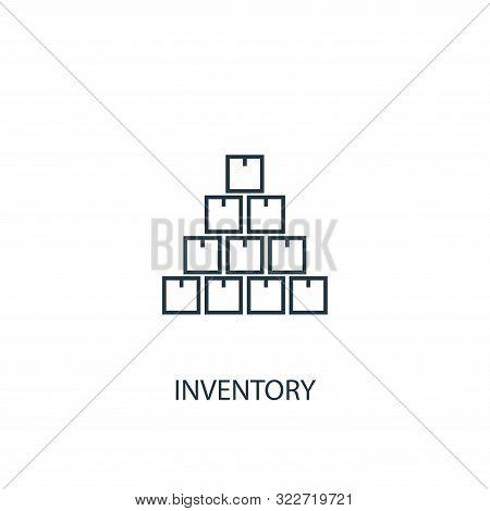 Inventory Concept Line Icon. Simple Element Illustration. Inventory Concept Outline Symbol Design. C