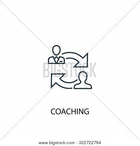 Coaching Concept Line Icon. Simple Element Illustration. Coaching Concept Outline Symbol Design. Can