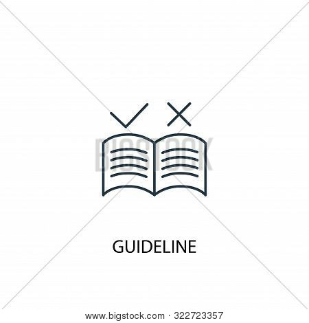 Guideline Concept Line Icon. Simple Element Illustration. Guideline Concept Outline Symbol Design. C