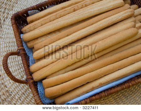 Bread Sticks In Basket