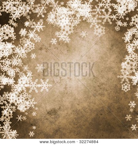 Grungy snowflakes background