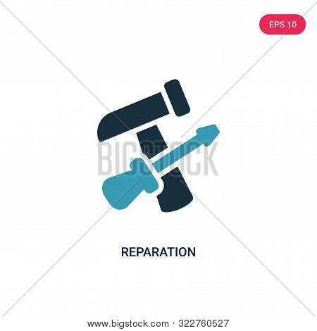 reparation icon in two color design style.