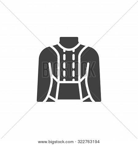 Posture Corrector Vector Icon. Filled Flat Sign For Mobile Concept And Web Design. Orthopedic Lumbar