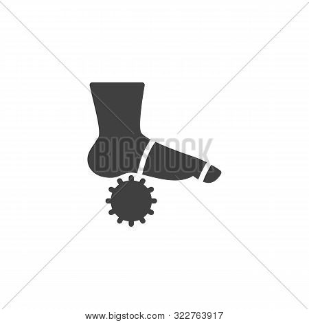 Foot Massage Orthopedic Ball Vector Icon. Filled Flat Sign For Mobile Concept And Web Design. Orthop