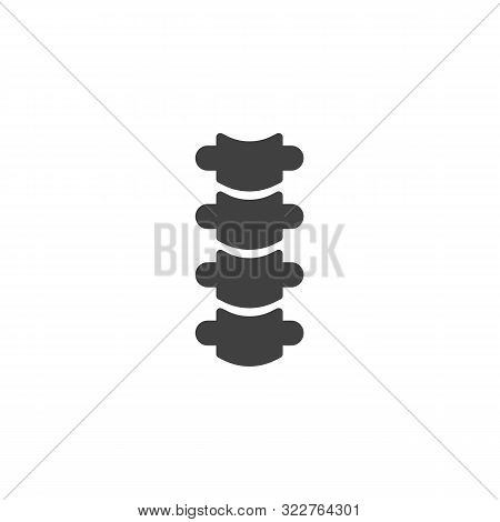 Spine Back Bone Vector Icon. Filled Flat Sign For Mobile Concept And Web Design. Spine Bone Glyph Ic