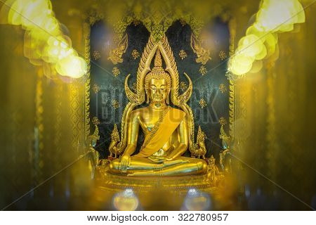 Beautiful Golden Buddha Statues At Wat Phra Si Rattana Mahathat Also Colloquially Referred To As Wat