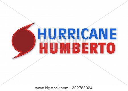 Weather Illustration. Hurricane Warning. Tropical Storm. Humberto.