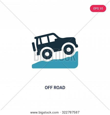 off road icon in two color design style.