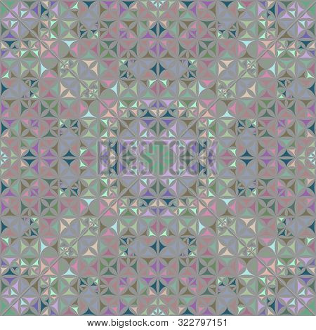 Colorful Seamless Kaleidoscope Pattern Background Design - Abstract Geometrical Vector Wallpaper Gra