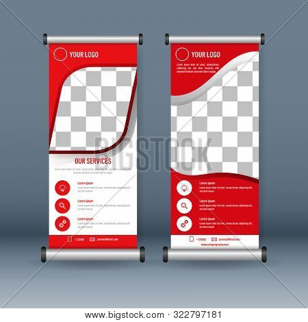 Business Roll Up Banner Template , Vector Illustration