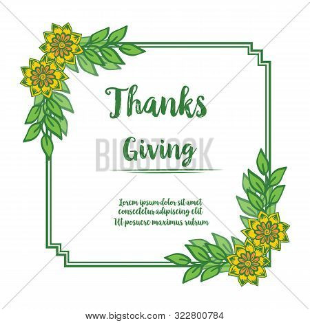 Design Perfect Colorful Wreath Frame For Invitation Card Of Thankgiving. Vector