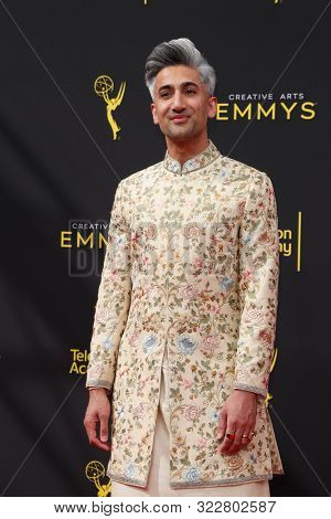 LOS ANGELES - SEP 14:  Tan France, Queer Eye cast at the 2019 Primetime Emmy Creative Arts Awards at the Microsoft Theater on September 14, 2019 in Los Angeles, CA