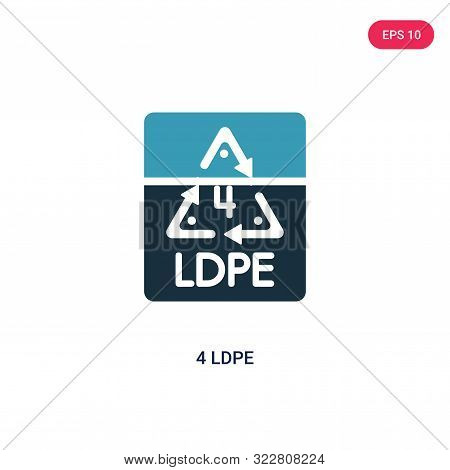 4 ldpe icon in two color design style.