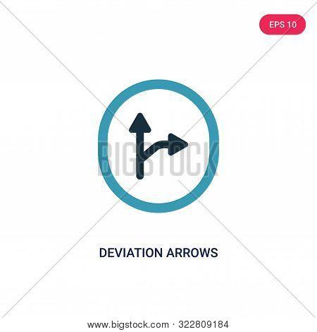 deviation arrows icon in two color design style.