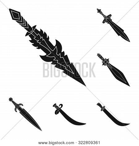 Vector Illustration Of Sharp And Blade Symbol. Set Of Sharp And Dagger Vector Icon For Stock.