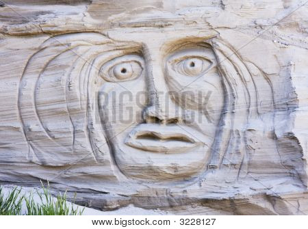 Face In A Sand Cliff