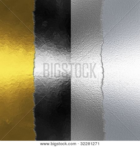 Four metal stripes background