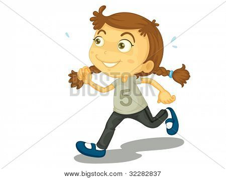 Illustration of a child running - EPS VECTOR format also available in my portfolio.