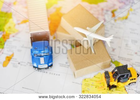 Logistics Transport Import Export Shipping Service Customers Order Things From Via Internet Internat