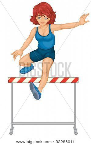 Illustration of female hurdler on white - EPS VECTOR format also available in my portfolio.