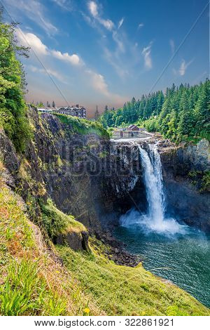 View of Snoqualmie Falls, near Seattle in the Pacific Northwest poster