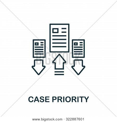 Case Priority Outline Icon. Thin Line Concept Element From Customer Service Icons Collection. Creati