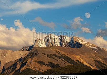 Fisher Peak, A Mountain In Kananaskis In The Canadian Rocky Mountains, Alberta, Canada