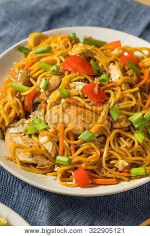 Homemade Japanese Chicken Yakisoba Noodles
