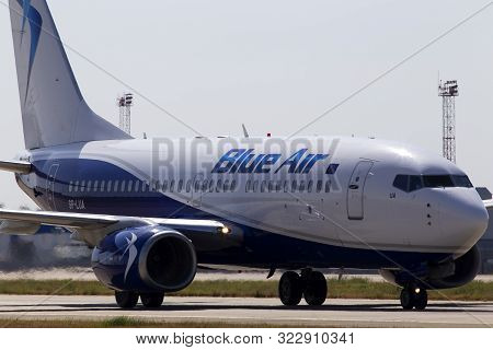Borispol, Ukraine - September 10, 2019: Sp-lua Lot - Polish Airlines Boeing 737-700 Aircraft In The