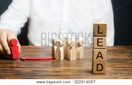 A Businessman Appoints A Group Of People A New Leader. Appointment Of A Head To Form A Team. Project