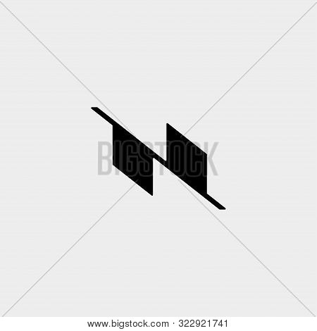 Letter N Nn Z Zz Monogram Logo Design Minimal Icon
